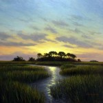 """Marsh Hammock,"" J. Christian Snedeker. 36"" x 36"" Oil on Canvas"