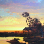 """Seminole Camp,"" Michael Coleman. 23"" x 30"" Oil on Panel."
