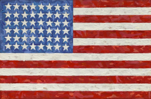 "Jasper Johns' ""Flag"" (1983) sold for $36 million at Sotheby's last week."