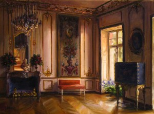 """Gilt and Shadows in Late Afternoon,"" Lindsay Goodwin. 24"" x 36,"" Oil on Canvas."