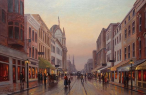 """King Street""  Simon Balyon  24"" x 36"" Oil on Canvas"