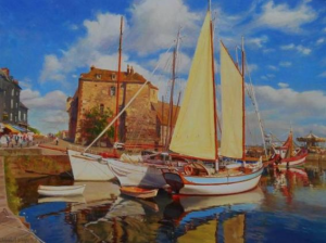 """The New Sail"" Evgeny & Lydia Baranov 36"" x 48"", Oil on Canvas"