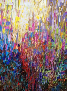 "Burst of Spring Mark Bettis 48"" x 36"", Mixed Media"