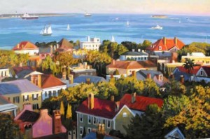 """Charleston Harbor"" Scott Moore 32"" x 48"", Oil on Canvas"