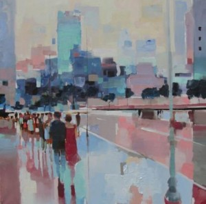 "Summer and the City Jeff Jamison 36"" x 36"", Oil on Canvas"